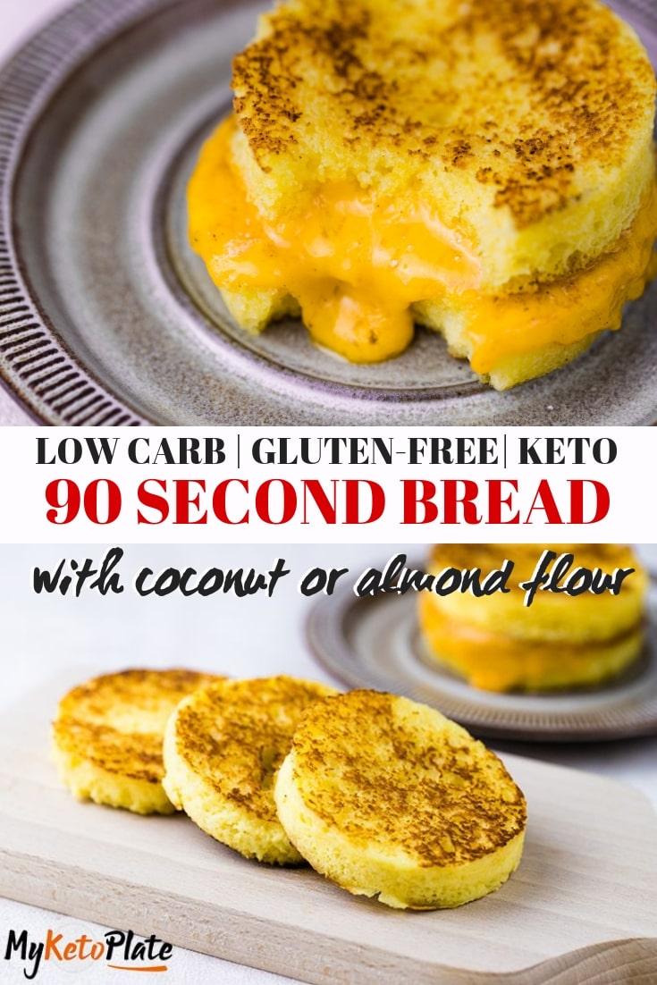 90 Second Bread – Low Carb & Keto Bread Recipe