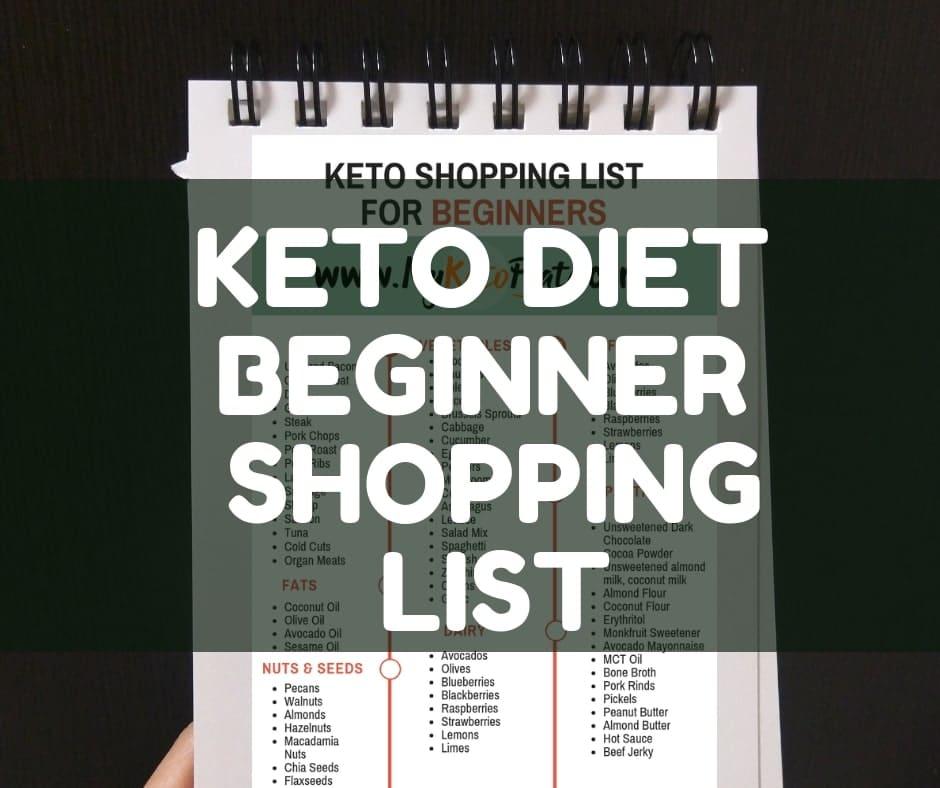 KETO DIET BEGINNER SHOPPING LIST keto grocery list