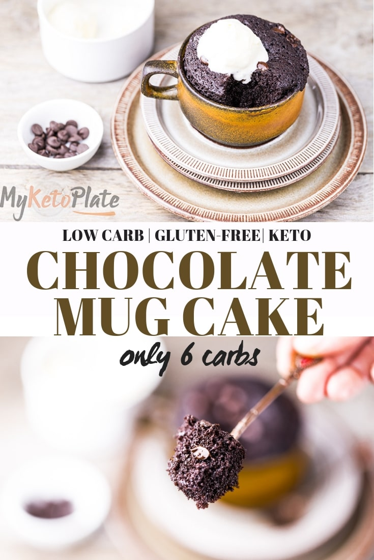 Chocolate Keto Mug Cake ready in 90 seconds