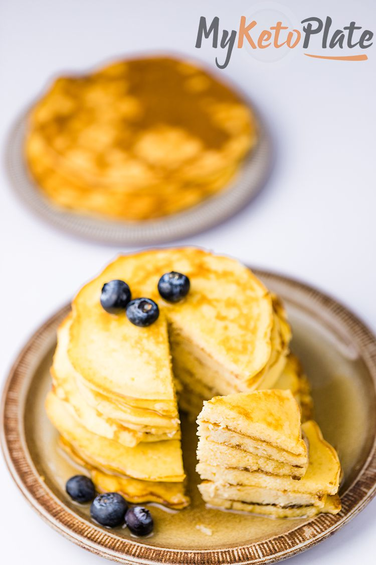 a serving of keto pancakes with coconut flour