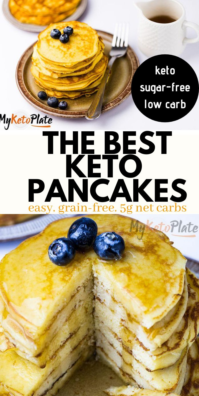 Foolproof Fluffy & Thick Keto Pancakes with Coconut Flour