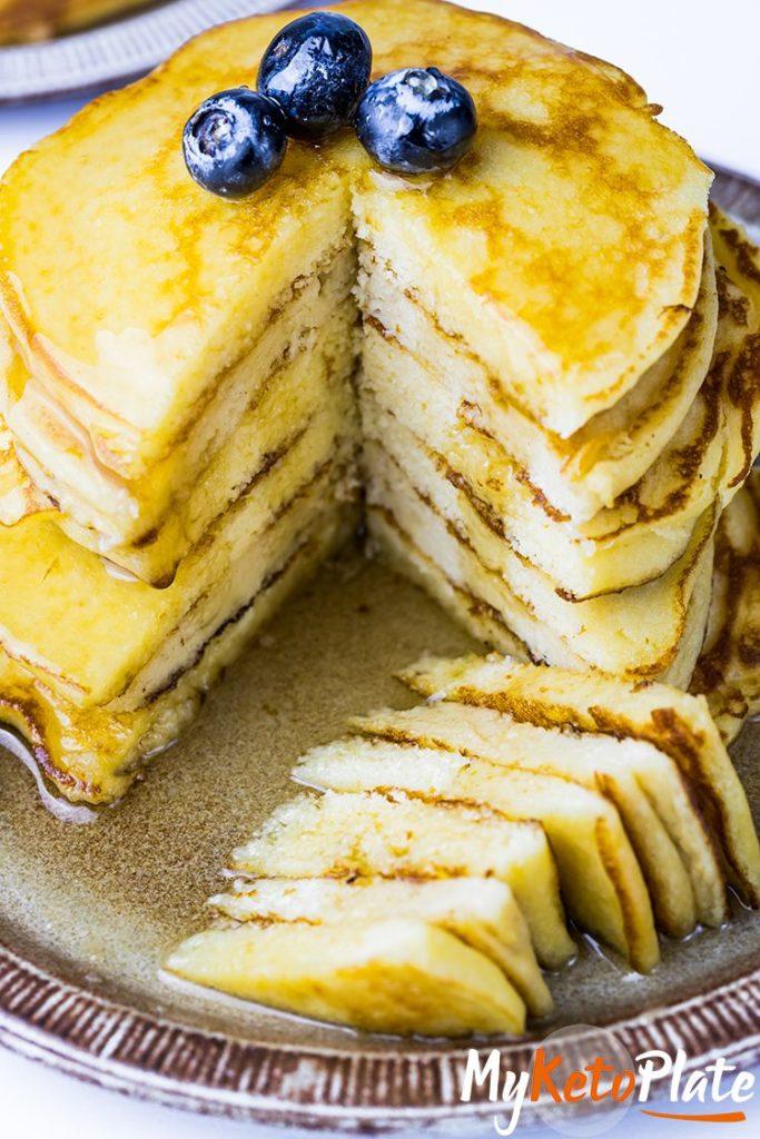 thick keto coconut flour pancakes
