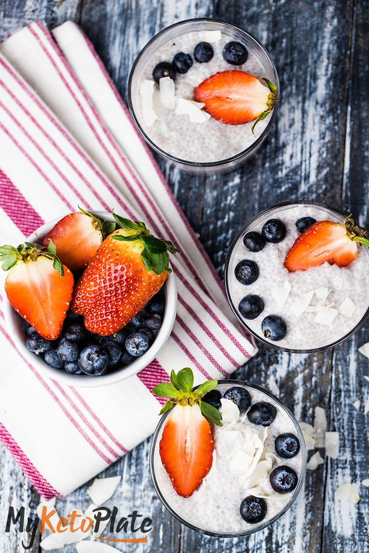 easy low carb pudding with fruits