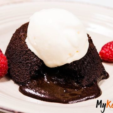 This Chocolate Keto Lava Cake is super rich, chocolaty and tasty. You'll need only 7 ingredients and 20 minutes for this keto dessert filled with perfectly gooey and creamy chocolate lava.