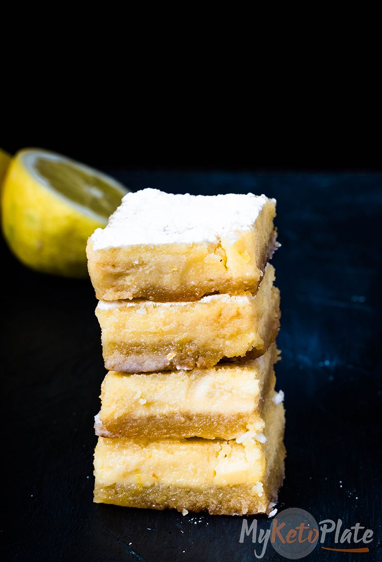 Keto Lemon Bars are a delightful sugar-free recipe with a wonderful balanced sweet and tangy flavor. You'll love the bright yellow color, the melt-in-your-mouth shortbread almond crust, and the lusciously thick lemon filling.