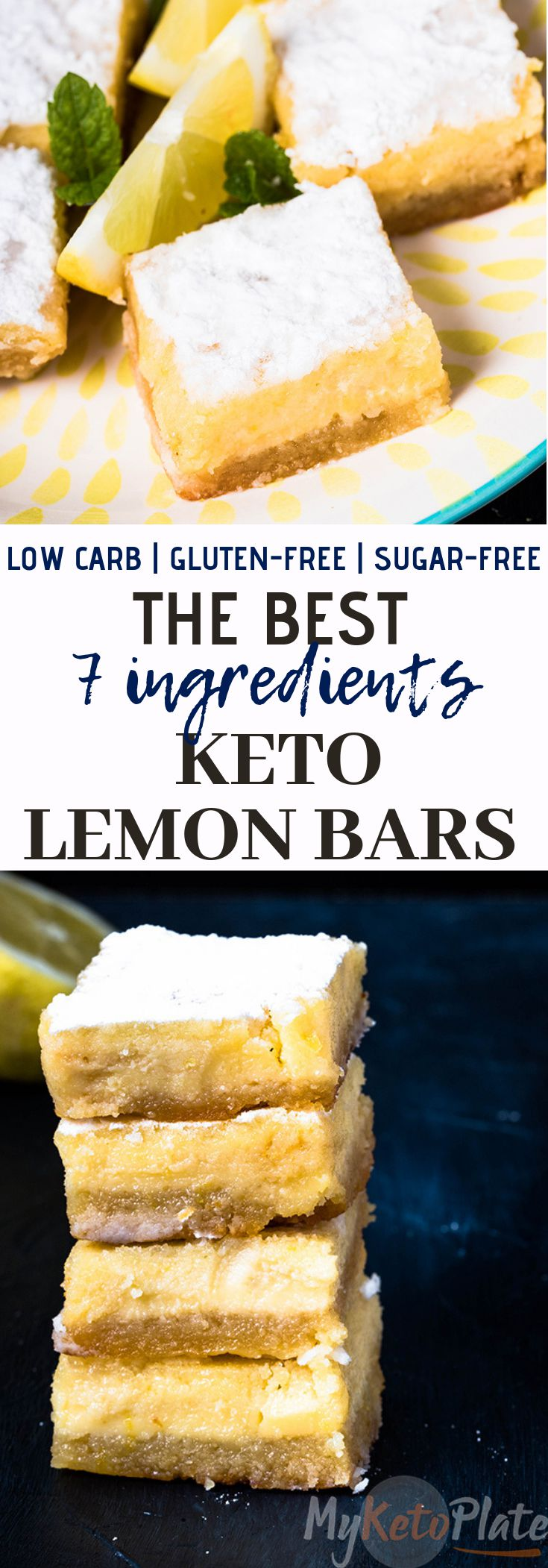 The Best Keto Lemon Bars - Only 4g Carbs