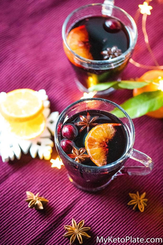 Homemade mulled wine is a warm drink perfect for Christmas