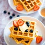 keto waffles with almond flour