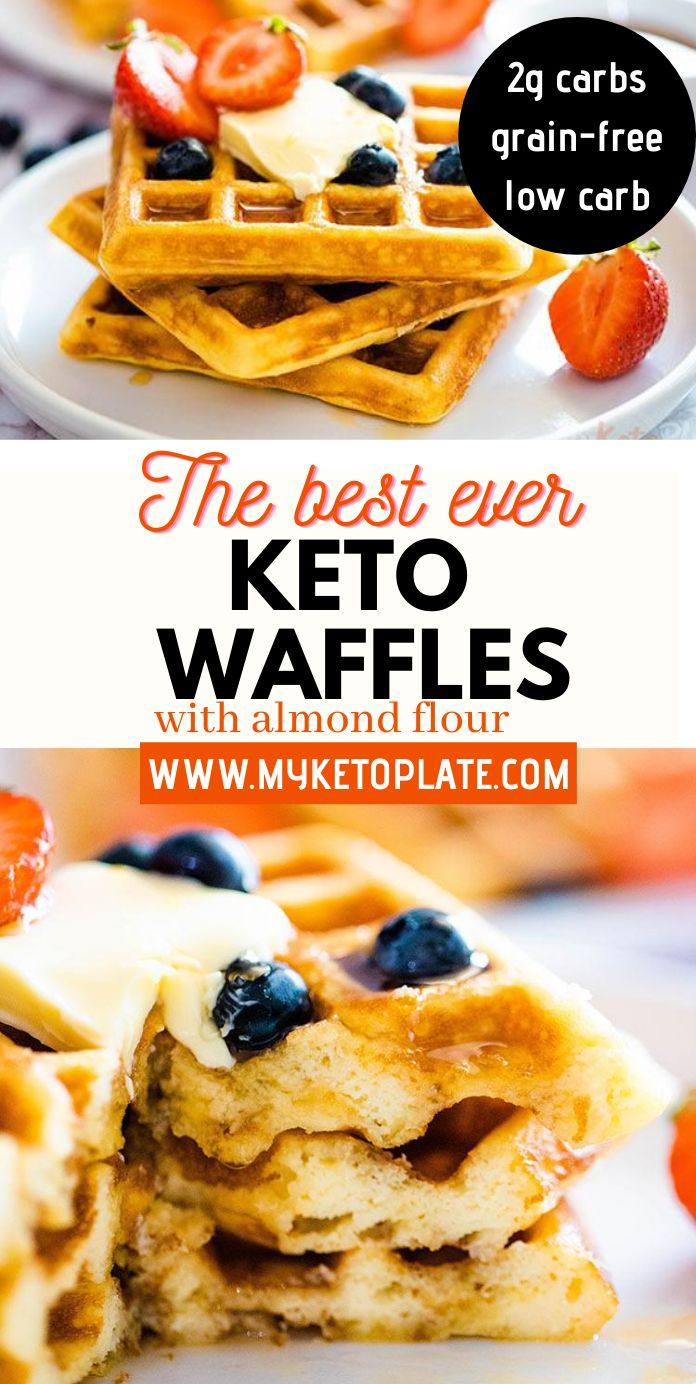 Perfect Homemade Keto Waffles with Almond Flour