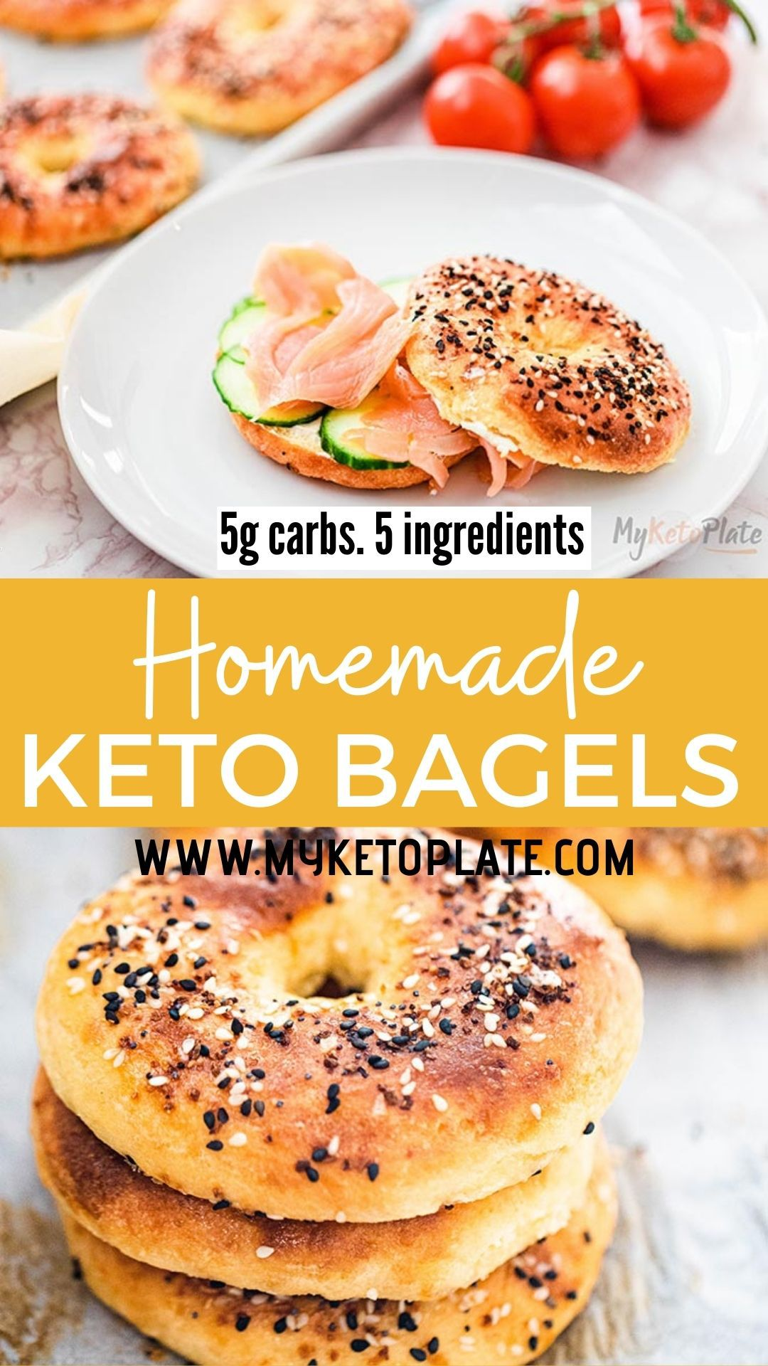 Easy Everything Keto Bagels - Low Carb Fathead Bagels