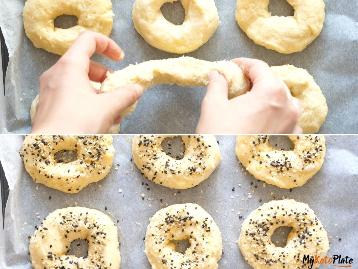 how to shape keto bagels step by step keto bagels myketoplate