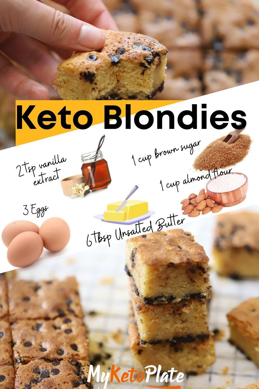 The Best Keto Blondies - Just 2g carbs!